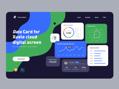 Data card uilit data analytics ui dashboard