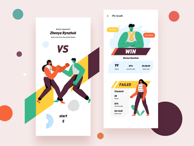PK one by one vs boy pk app ui