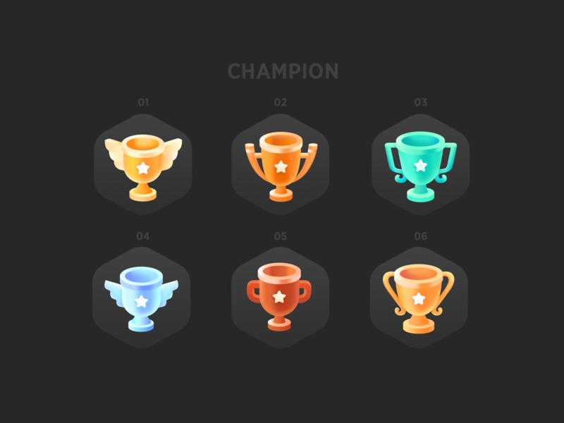 Champion achievement prize champion app ui