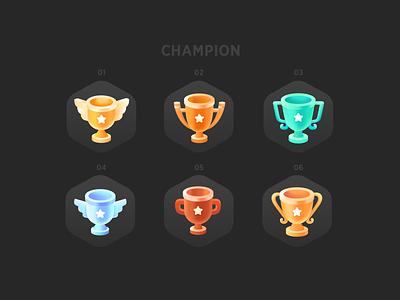 Champion achievement prize champion app ui
