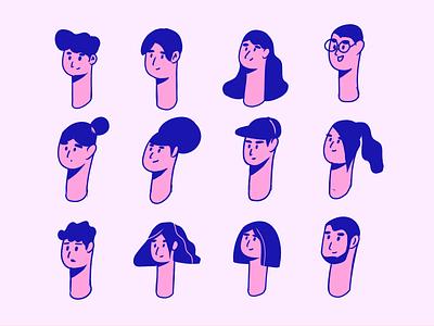 头型 head illustration