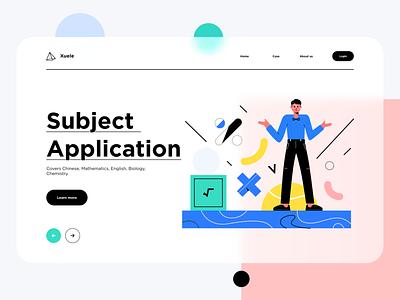 Subject application blue illustration