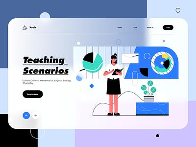 Teaching scenarios web illustration