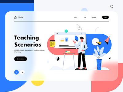 Teaching  Scenarios data illustration web