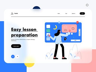 Easy lesson  preparation education web illustration