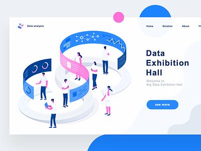 Data 5 website web illustration