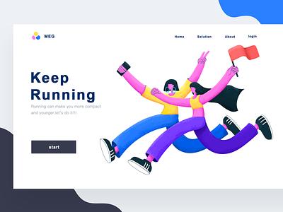 Keep Running character web illustration