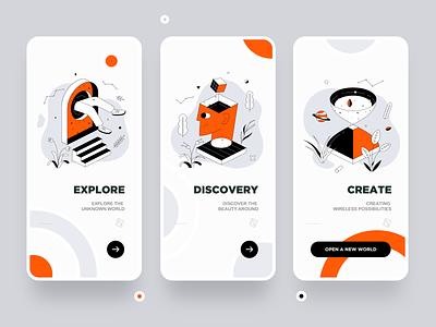 Guide pages illustration ui app