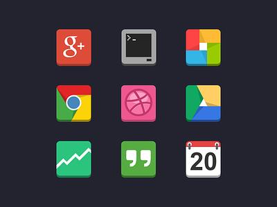 Flat Android Icons minimal icons flat google android simple simplistic minimalistic