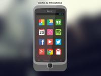 Flat HTC Desire Z
