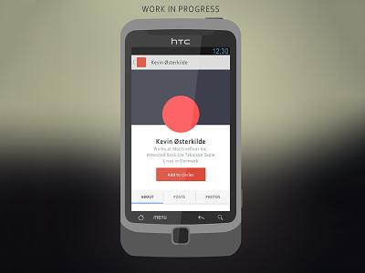 Flat HTC Desire Z v2 wip google android phone icon simplistic simple minimalistic minimal flat
