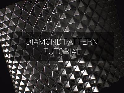 Diamond Pattern tutorial tutorial 3d pattern