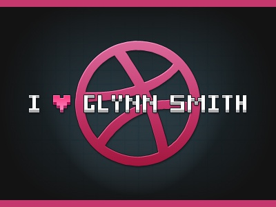 I [heart] Glynn Smith i love glynn smith dribbble invite debut