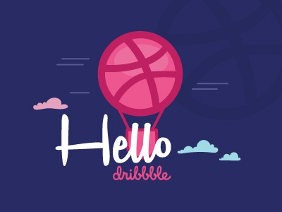 Hello Dribbble hello first shot dribbble debut