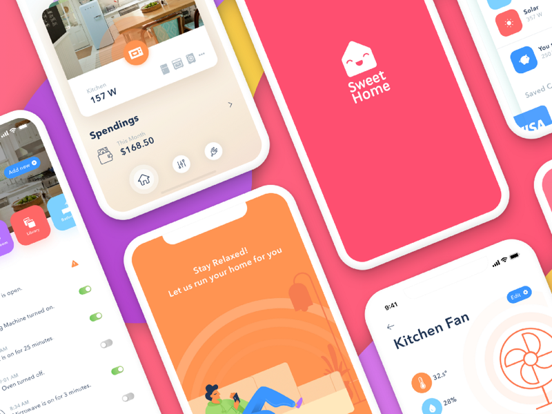Sweet Home Case Study monitor energy smart home uxdesign medium publish process application mobile design ux case study