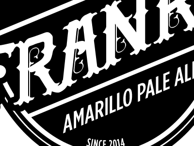 Frank's beer label