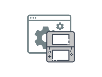 N3DS icon window settings preference gear 3ds icon vector