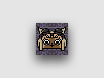 App icon for MHW DB game hunter monster cat app icon