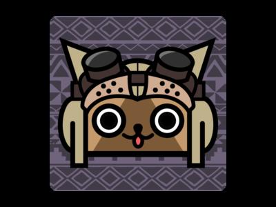 Monster Hunter Felyne/Palico app icon cat app icon