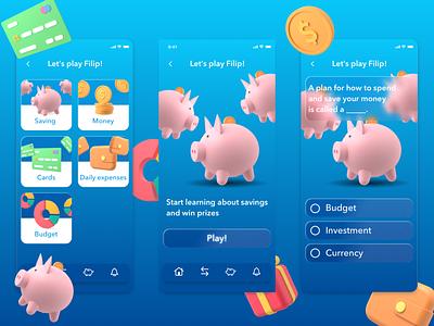 Advantica Kids | Banking app kids mobile budget mobile bank fintech financial app finances finance app banking app bank app ui financial design finance children children bank banking bank app