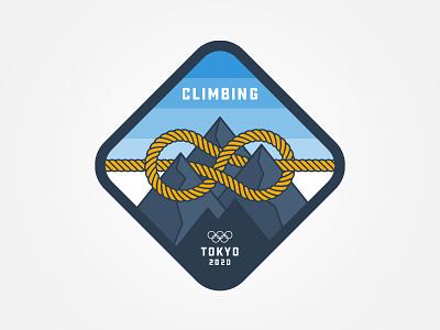 Climbing rock climbing tokyo mountains climbing sticker sport olympics