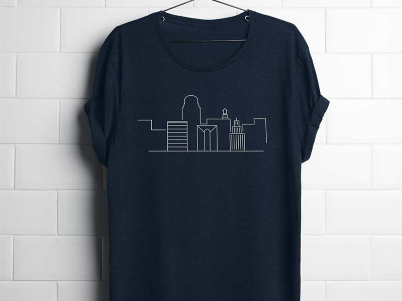 Winston Shirt flat minimalistic clothing sketch minimal travel city graphic illustration destination