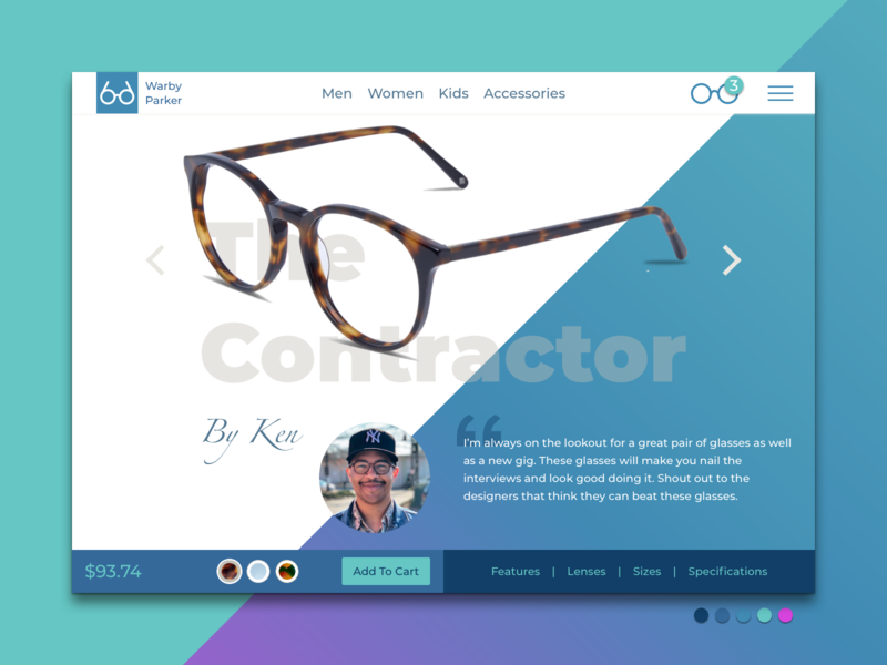 Warby Parker Redesign warby parker interaction experience eye glasses branding minimal ui sketch interface ux user design