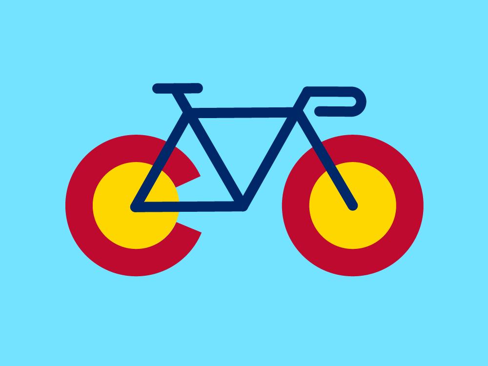 Bike Colorado colorado cycle biking bike minimal vector flat illustration sketch design