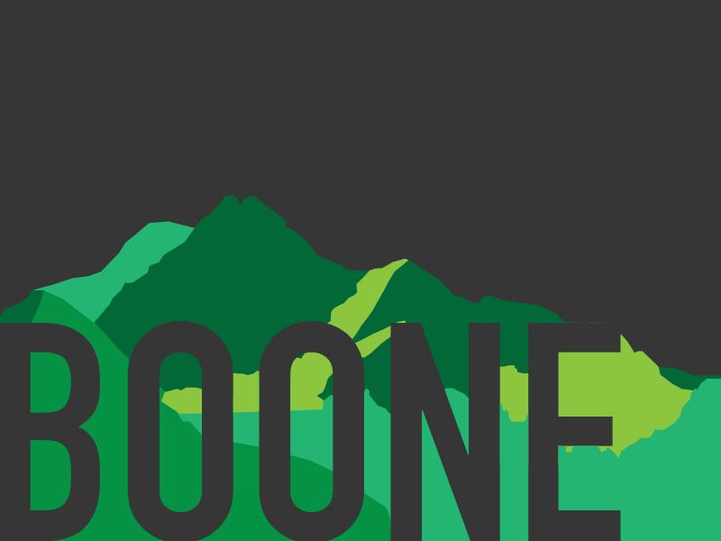 Green Ridge Parkway mountains boone minimal vector illustration sketch flat design