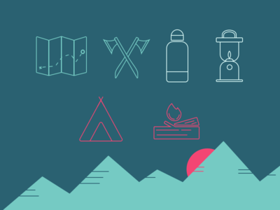Not Another Camping Icon Set