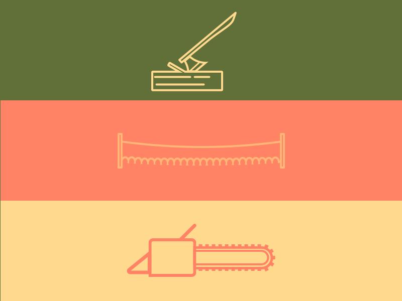 Timber Hobbies outdoors timber axe saw illustration minimal vector flat sketch design