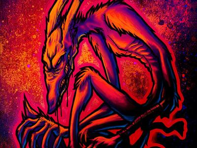 Graffiti street art skinny puppy horror science fiction sci-fi web illustration