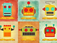 Illus robotcollage