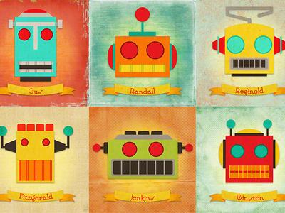 Robot Collage retro-futurism tin robots robots robot science fiction sci-fi