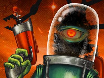 Hugo monster horror ufo alien retro-futurism science fiction sci-fi