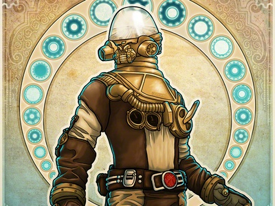 Stay Focused art nouveau steampunk spirit ghost mike mignola hellboy science fiction sci-fi