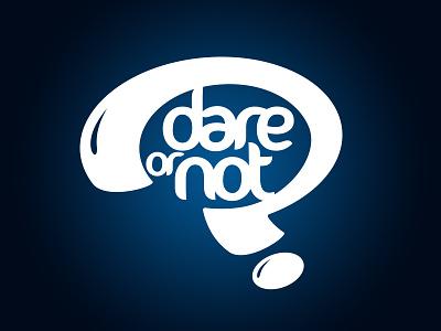 dare or not logo blue questionmark logo