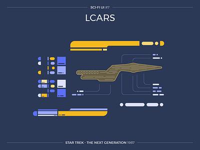 Sci-Fi UI #7 - LCARS user interface science fiction flat ui star trek ui scifi scifiui lcars