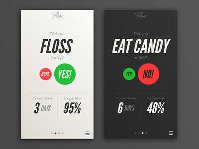 Floss Android App 2 typography android floss atomic robot contrast mobile ui