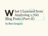 Blog Post Graphic – Analyzing 1,700 Blog Posts