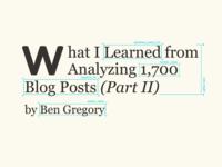 Blog Post Graphic – Analyzing 1,700 Blog Posts