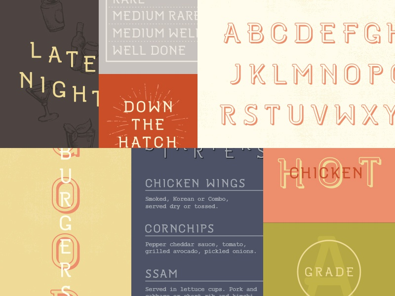 Restaurant Font Design by Russell Shaw on Dribbble