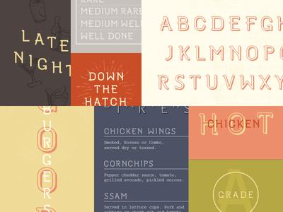 Restaurant Font Design