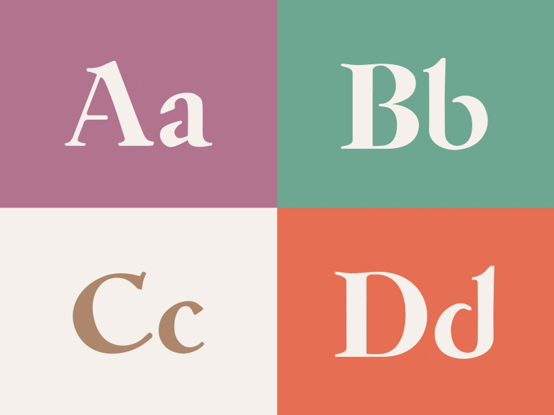 Newest Typeface, Work-In-Progress serif lettering font typeface