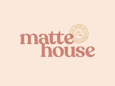 Matte House - 2 lockup branding neutral stamp illustrator logo