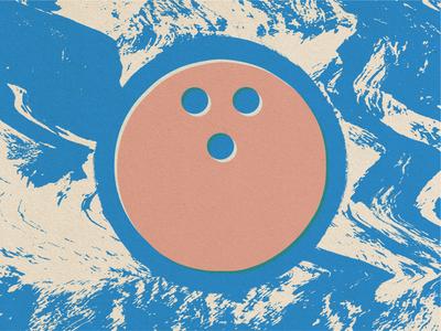 Walter Sobchak the big lebowski acid bowling print pink blue vector illustrator