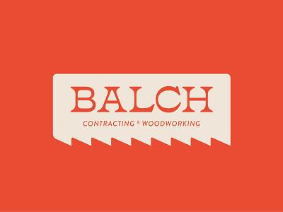 Prescott Balch modern vibe groovy contractor freelance business architecture construction identity orange serrated blade saw logo branding color illustrator illustration design