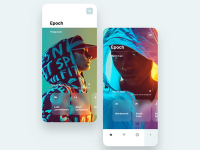 Epoch app mobile ux branding layout ui webdesign typography design