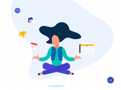 Product Illustration ui product yoga hr illustration