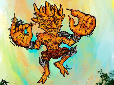 Zulfer God of Sun character sketch design illustration digitalart art
